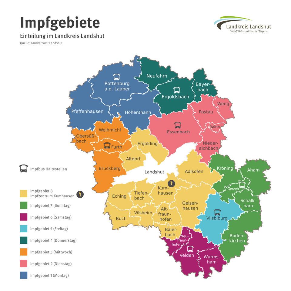 Impfgebiete im Landkreis Landshut